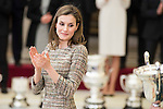 Queen Letizia attends to the National Sports Awards 2015 at El Pardo Palace in Madrid, Spain. January 23, 2017. (ALTERPHOTOS/BorjaB.Hojas)