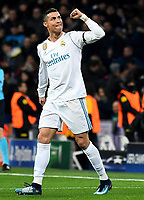 06.12.2017, xfux, Fussball Champions League, Real Madrid - Borussia Dortmund, emspor, v.l. Cristiano Ronaldo (Real Madrid) Torjubel, Goal celebration, celebrate the goal zum 1:0 Madrid *** 06 12 2017 xfux Football Champions League Real Madrid Borussia Dortmund emspor v l Cristiano Ronaldo Real Madrid goal celebrations Goal celebration celebrate the goal to 1 0 Madrid  <br /> Foto Imago/Insidefoto