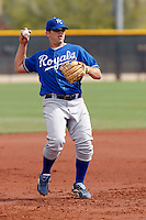 Mike Moustakas  - Kansas City Royals - 2009 spring training.Photo by:  Bill Mitchell/Four Seam Images