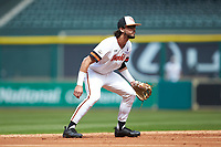 Sam Houston State Bearkats shortstop Andrew Fregia (7) on defense against the Vanderbilt Commodores in game one of the 2018 Shriners Hospitals for Children College Classic at Minute Maid Park on March 2, 2018 in Houston, Texas. The Bearkats walked-off the Commodores 7-6 in 10 innings.   (Brian Westerholt/Four Seam Images)