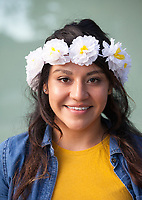 Girl with White Flower Headband, Renton Multicultural Festival 2017, WA, USA.
