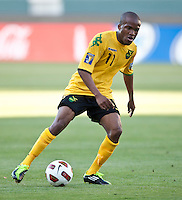 CARSON, CA – June 6, 2011: Jamaican Dane Richards (11) during the match between Grenada and Jamaica at the Home Depot Center in Carson, California. Final score Jamaica 4 and Grenada 0.