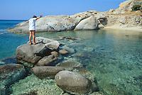 - Naxos island (Cyclades), little bay and beach near cape Mikri Vigla..- isola di Naxos (Cicladi), caletta e spiaggia presso la punta di Mikri Vigla.