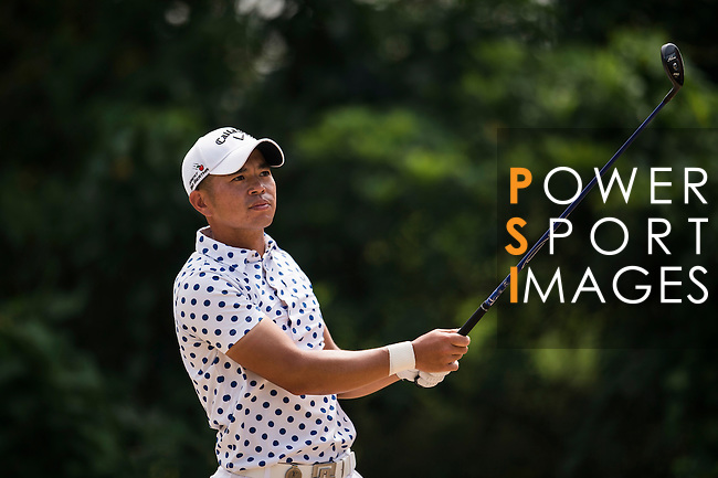 Chan Shih-chang of Chinese Taipei in action during the Venetian Macao Open 2016 at the Macau Golf and Country Club on 16 October 2016 in Macau, China. Photo by Marcio Machado / Power Sport Images