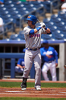 Midland RockHounds second baseman Colin Walsh (6) at bat during a game against the Tulsa Drillers on June 3, 2015 at Oneok Field in Tulsa, Oklahoma.  Midland defeated Tulsa 5-3.  (Mike Janes/Four Seam Images)