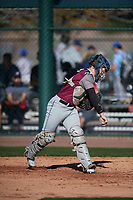 Luke Banister (4) of Hutto High School in Round Rock, Texas during the Baseball Factory All-America Pre-Season Tournament, powered by Under Armour, on January 13, 2018 at Sloan Park Complex in Mesa, Arizona.  (Mike Janes/Four Seam Images)