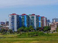Wohnblock im Zentrum, Batumi, Adscharien - Atschara, Georgien, Europa<br /> Block of flats, Batumi, Adjara,  Georgia, Europe