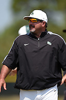 Farmingdale State Rams head coach Keith Osik during a game against the U-Mass Boston Beacons at North Charlotte Regional Park on March 19, 2015 in Port Charlotte, Florida.  U-Mass Boston defeated Farmingdale 9-5.  (Mike Janes/Four Seam Images)