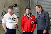 Verizon IndyCar Series<br /> Fernando Alonso Test for Indianapolis 500<br /> Indianapolis Motor Speedway, Indianapolis, IN USA<br /> Wednesday 3 May 2017<br /> Fernando Alonso and Zak Brown and Eric Bretzman<br /> World Copyright: Michael L. Levitt<br /> LAT Images