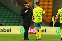 2nd January 2021; Carrow Road, Norwich, Norfolk, England, English Football League Championship Football, Norwich versus Barnsley; Norwich City Manager Daniel Farke celebrates the 1-0 win with Kenny McLean of Norwich City