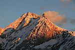 Italy, Dolomites.  <br /> A beautiful sunset of Mount Marmolada from Hotel Il Campinetto, Canazei, Italy. Now put something in front of it.