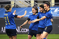 Valentina Giacinti of Italy celebrates with team mates after scoring a goal during the Women s EURO 2022 qualifying football match between Italy and Israel at stadio Carlo Castellani in Empoli (Italy), February, 24th, 2021. Photo Image Sport / Insidefoto