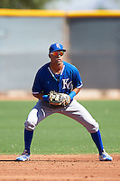 Kansas City Royals Angelo Castellano (21) during an Instructional League game against the Texas Rangers on October 4, 2016 at the Surprise Stadium Complex in Surprise, Arizona.  (Mike Janes/Four Seam Images)