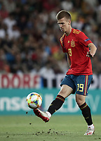 Spain's Dani Olmo kicks the ball during the Uefa Under 21 Championship 2019 football final match between Spain and Germany at Udine's Friuli stadium, Italy, June 30, 2019. Spain won 2-1.<br /> UPDATE IMAGES PRESS/Isabella Bonotto