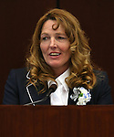Nevada Assembly Speaker Marilyn Kirkpatrick, D-North Las Vegas, speaks on the Assembly floor on the opening day of the 77th Legislative Session in Carson City, Nev. on Monday, Feb. 4, 2013.<br />
