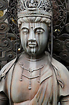 Japanese Buddha statue with crown