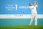 TAIPEI, TAIWAN - NOVEMBER 18:  Steve Cipa of England tees off on the 10th hole during day one of the Fubon Senior Open at Miramar Golf & Country Club on November 18, 2011 in Taipei, Taiwan.  Photo by Victor Fraile / The Power of Sport Images