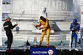 Will Power, Team Penske Chevrolet, Ryan Hunter-Reay, Andretti Autosport Honda, Ed Jones, Chip Ganassi Racing Honda, podium, champagne