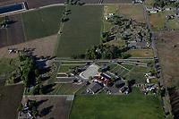 aerial photograph of Sundance Ranch and Tamber Bey Vineards, Calistoga, Napa County, California