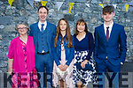 Karolina O'Callaghan former student of Gaelscoil Mhic Easmann receiving her Confirmation in St John's Church on Saturday. L to r Carmel O'Connor, Michael, Roisin and Luke O'Callaghan.