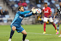 SAINT PAUL, MN - MAY 15: Phelipe Megiolaro #99 of FC Dallas with a save during a game between FC Dallas and Minnesota United FC at Allianz Field on May 15, 2021 in Saint Paul, Minnesota.