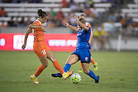 Houston, TX - Sunday Sept. 25, 2016: Carli Lloyd, Merritt Mathias during a regular season National Women's Soccer League (NWSL) match between the Houston Dash and the Seattle Reign FC at BBVA Compass Stadium.