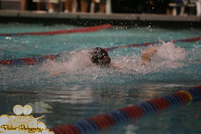 Bishop Verot's Stephanie Peacock swims in the 200yd freestyle on Friday, November 14, 2008, during the class 1A FHSAA Swimming Finals at the YMCA Aquatic Center in Orlando. Verot placed 3rd with a time of 1:48.05. (Chad Pilster, PilsterPhotography.net)