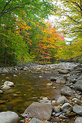 Zealand River in the White Mountains, New Hampshire USA during the autumn months.