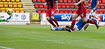 St Johnstone v St Mirren……29.08.20   McDiarmid Park  SPFL<br />Stevie May slides in to score for saints<br />Picture by Graeme Hart.<br />Copyright Perthshire Picture Agency<br />Tel: 01738 623350  Mobile: 07990 594431