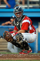 Batavia Muckdogs catcher Jesus Montero #55 during a game against the Connecticut Tigers at Dwyer Stadium on July 5, 2012 in Batavia, New York.  Batavia defeated Connecticut 8-2.  (Mike Janes/Four Seam Images)