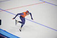 OLYMPIC GAMES: PYEONGCHANG: 17-02-2018, Gangneung Oval, Long Track, Training session, start Kai Verbij (NED), ©photo Martin de Jong