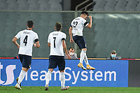 Stephan El Shaarawy of Italia celebrates after scoring the 3-0 goal during the friendly football match between Italy and Moldova at Artemio Franchi Stadium in Firenze (Italy), October, 7th 2020. Photo Andrea Staccioli/ Insidefoto