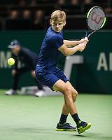 ABN AMRO World Tennis Tournament, Rotterdam, The Netherlands, 15 Februari, 2017, David Goffin (BEL)<br /> Photo: Henk Koster