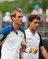 18-06-13, Netherlands, Rosmalen,  Autotron, Tennis, Topshelf Open 2013, , Jesse Huta Galung and Thiemo de Bakker(L) in the doubles<br /> <br /> Photo: Henk Koster