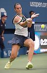 Flavia Panetta (ITA) defeats Petra Kvitova (CZE) 6-4, 4-6, 6-2 at the US Open in Flushing, NY on September 9, 2015.