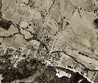historical aerial photograph Calistoga, Napa county, California, 1958