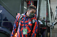 KANSAS CITY, KS - JULY 15: Daryl Dike #11 of the United States arriving at the stadium before a game between Martinique and USMNT at Children's Mercy Park on July 15, 2021 in Kansas City, Kansas.