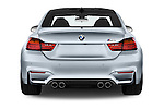Straight rear view of 2016 BMW M4 2 Door Coupe Rear View  stock images