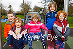 The O'Connor family enjoying the playground in the Tralee town park on Thursday, l to r: Nora, Shauna, Sheila, Colm and Caoimhe O'Connor.