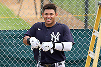 New York Yankees Jasson Dominguez (25) before an Extended Spring Training game against the Detroit Tigers on June 19, 2021 at the Joker Marchant Stadium in Lakeland, Florida.  (Mike Janes/Four Seam Images)