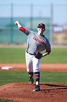 Jacob Winstead (54), from Salem, Oregon, while playing for the Indians during the Under Armour Baseball Factory Recruiting Classic at Red Mountain Baseball Complex on December 28, 2017 in Mesa, Arizona. (Zachary Lucy/Four Seam Images)