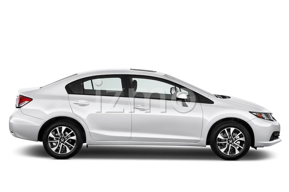Driver side profile view of a .  2013 Honda Civic Sedan EX Sedan