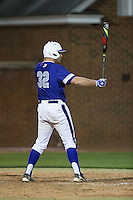 Zack Gray (32) of the High Point Panthers at bat against the NJIT Highlanders during game two of a double-header at Williard Stadium on February 18, 2017 in High Point, North Carolina.  The Highlanders defeated the Panthers 4-2.  (Brian Westerholt/Four Seam Images)