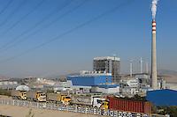 TURKEY Aliaga, Nordex N90 wind turbines and industrial plant  / TUERKEI Aliaga, Nordex Windpark mit N90 WEA des Betreiber Bilgin Enerji und Industrieanlage
