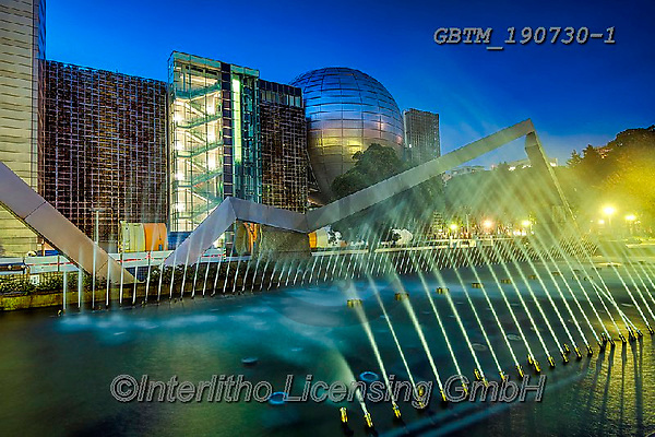 Tom Mackie, LANDSCAPES, LANDSCHAFTEN, PAISAJES, photos,+Asia, City of Arts and Science, Japan, Japanese, Nagoya City, The Science Museum, Tom Mackie, Worldwide, architectural, archi+tecture, blue, building, buildings, horizontal, horizontals, landmark, landmarks, modern architecture, night time, nightscene+nobody, planetarium, time of day, tourist attraction, twilight, unusual, water, world wide, world-wide,Asia, City of Arts an+d Science, Japan, Japanese, Nagoya City, The Science Museum, Tom Mackie, Worldwide, architectural, architecture, blue, build+,GBTM190730-1,#l#, EVERYDAY