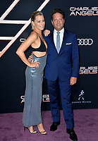 """LOS ANGELES, USA. November 12, 2019: Elizabeth Banks & Max Handelman at the world premiere of """"Charlie's Angels"""" at the Regency Village Theatre.<br /> Picture: Paul Smith/Featureflash"""