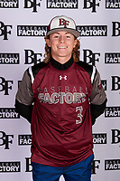 Austin Roccaforte (3) of Tomball Memorial High School in Tomball, Texas during the Baseball Factory All-America Pre-Season Tournament, powered by Under Armour, on January 12, 2018 at Sloan Park Complex in Mesa, Arizona.  (Mike Janes/Four Seam Images)