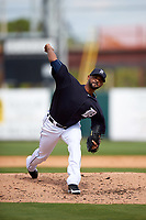 Detroit Tigers pitcher Lendy Castillo (68) delivers a pitch during an exhibition game against the Florida Southern Moccasins on February 29, 2016 at Joker Marchant Stadium in Lakeland, Florida.  Detroit defeated Florida Southern 7-2.  (Mike Janes/Four Seam Images)