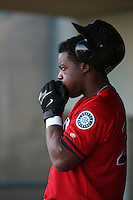 April 19 2009: Joe Dunigan of the High Desert Mavericks during game against the Lancaster JetHawks at Clear Channel Stadium in Lancaster,CA.  Photo by Larry Goren/Four Seam Images