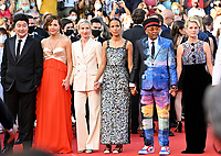 CANNES, FRANCE. July 17, 2021: Song Kang-Ho, Maggie Gyllenhaal, Jessica Hausner, Mati Diop, Spike Lee & Melanie Laurent at the Closing Gala & Awards Ceremony, and From Africa With Love Premiere at the 74th Festival de Cannes.<br /> Picture: Paul Smith / Featureflash